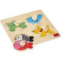 Goula - Puzzles animales domésticos, piezas de madera (Diset 53116)