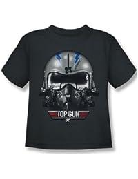 Top Gun - Juvy Iceman Helmet T-Shirt in der Holzkohle