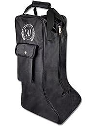Cette housse noir/reitstiefeltasche waldhausen avec poche/sac pour bottes d'équitation/stiefelbeutel
