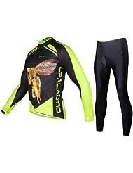 Maillot de vélo à manches longues à vélo avec collants Terylene Léger Matériaux Veste à sec rapide respirant Ensemble de pantalons Vêtements de vélo Costumes pour hommes