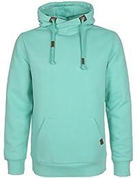 Sublevel Herren Hoodie einfarbig | Männer Sweatshirt mit Kapuze | Trendiger Kapuzenpullover uni-farben