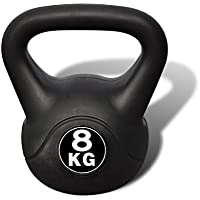 vidaXL Pesa Rusa de 8 Kilos Negra Kettlebell Musculación Fitness Ejercicio