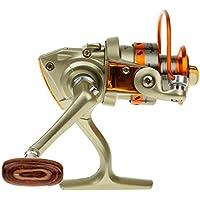 Plata Mini Carrete De Pesca De Giro Con Rodamientos De Bolas 10 5.1: 1 Relación De Engranajes