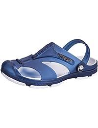 Hombre Zuecos Sandalias Zapatillas Respirable Clogs Mulas Verano Sandalias, para Caminar Al Aire Libre Playa Slippers Jardín Zapatos Negro Azul Gris 40-45 Juleya