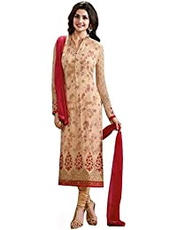 Special Mega Sale Festival Offer C&H Peach Georgette Semi-Stitched Salwar Suits