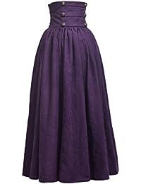 BLESSUME Gótico Lolita Steampunk Alto Cintura Para caminar Falda