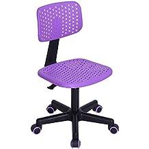 Home Office Tarea Sillas de ordenador Mid Back Swivel Ajustable para niños Niños estudio, PURPLE
