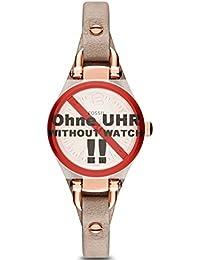 Fossil Uhrband Wechselarmband LB-ES3262 Original Ersatzband ES 3262 Uhrenarmband Leder 7 mm Beige