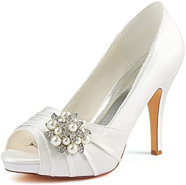 Emily Bridal Chaussures Chaussures Chaussures de mariée en Ivoire Chaussures à Talons Hauts à Talons HautsB07GXGNQPTParent fa8edd