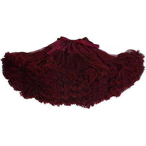 DELEY Adulto Mujeres princesa gasa de malla del soplo de la falda del tutú enaguas