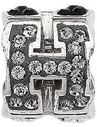 Amore & Baci: Plata Swarovski colgante de letra H: 12,5mm