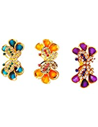 Sultana Fashions Multi Color Alloy Hair Clip For Women Combo Of 3 - SF-010
