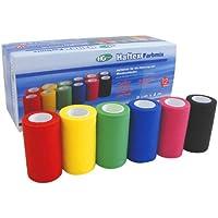 Haftex Farbmix, elastische, kohäsive (selbsthaftende) Haftbinde für die Fixierung von Wundverbänden, 8 cm x 4... preisvergleich bei billige-tabletten.eu