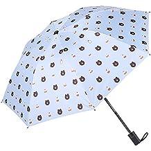 DORRISO Portátil Compacto Plegables Paraguas Linda Oso pequeño Resistente al Viento Impermeable Durable Ligero Cómodo Mujer