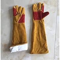 XHCP Guantes soldadores Fuego Estrellas de Trabajo Seguro de Cuero Guante Super Wear-Resistant Longitud