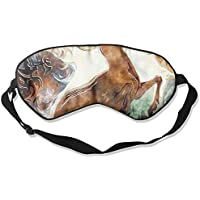 Sleep Eye Mask Deer Stag Running Lightweight Soft Blindfold Adjustable Head Strap Eyeshade Travel Eyepatch preisvergleich bei billige-tabletten.eu