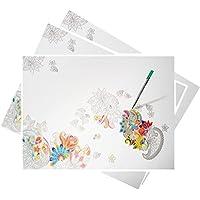 Preisvergleich für alles-meine.de GmbH Papier - Schreibtischunterlage / Unterlage - Blumen & Blüten - 48 cm * 33 ..