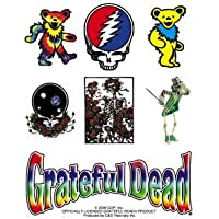 """GRATEFUL DEAD Assorted assortito Icons Icone STICKER ADESIVO Sets - Officially Licensed Classic Rock GDP Artwork, 5"""" X 4"""", Long Lasting Sticker DECAL"""