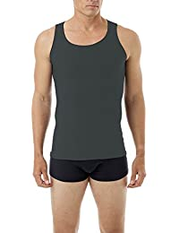 Underworks Mens Microfiber Performance Compression Tank 3-Pack