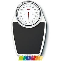 Seca colorata 760weiß Teppich schwarz Kreis Chrom Pack 1