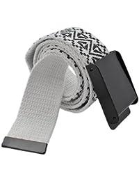 BONAMART ® Unisex Damen und Herren Retro Classic Drucken Stricken Canvas Web Gürtel Belt