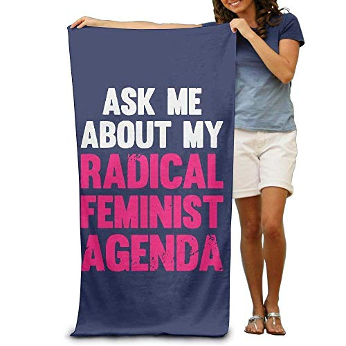 Toalla feminista Ask Me About My Radical Feminist Agenda