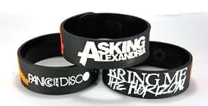 Panic. At The Disco und Bring Me The Horizon und Asking Alexandria New 3(3x) Armband dibma2