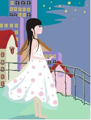 Peinture bricolage huile, de peinture par des kits de nombres pour les enfants - La petite fille 20x30cm.