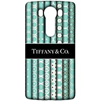 LG V10 Cover Shell,Contracted Fine Luxury Logo Printed Shell tiffy Mark Phone Case 3D Hard Plastic