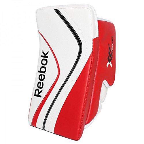 Reebok Premier X24 Sr. Goalie Blocker, Farbe:weiß/schwarz/rot;Spielseite:FR/ Rechtsfänger