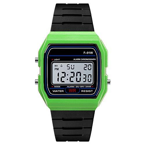 Yvelands Luxus Uhren Männer Analog Digital Military Army Sport LED Wasserdichte Armbanduhr(Grün,Free)