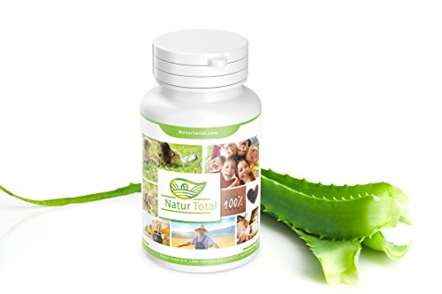 Aloe Vera Konzentrat 6000 mg - 120 Tabletten gegen Pickel, Hautunreinheiten, Akne - Vegan - Aloe Vera Tabletten