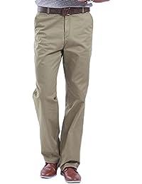 HOEREV Mens été coton pantalon décontracté, pantalons décontractés