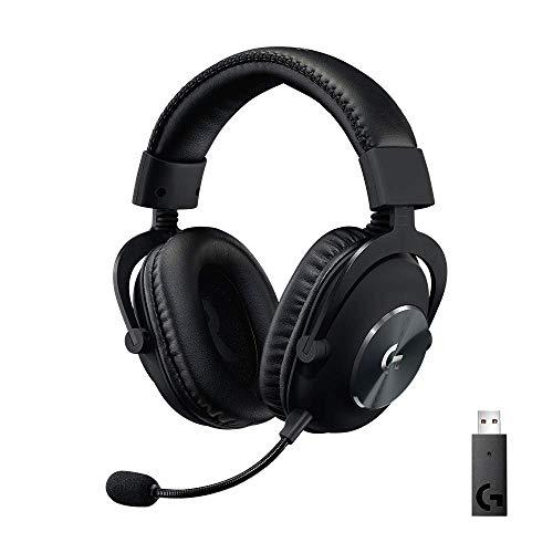 Oferta de Logitech G PRO X Auriculares Inalámbricos LIGHTSPEED para Gaming, Micrófono Blue VO!CE, Controladores PRO-G de 50 mm, DTS: Sonido Envolvente X 2.0, Memory Foam, para PC, Batería de 20 Horas