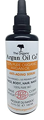 The Organic Argan Oil Co Pure 100ml - 100% Cold Pressed Organic ECOCERT Moroccan Oil Special Exclusive Amazon Launch Price! from The Organic Argan Oil Co Limited