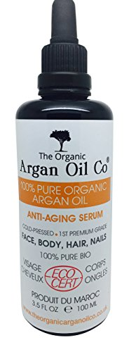 Pure Argan Oil 100ml - 100% Cold Pressed Organic ECOCERT Moroccan Oil Special Exclusive Amazon Launch Price!