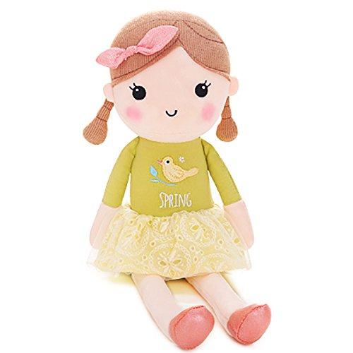 Frühlings-Tuch Kleiden Oben Baby Puppe Weich Puppen Beste Mädchen Geschenke 16inches (Grüne - Puppe Baby Tuch