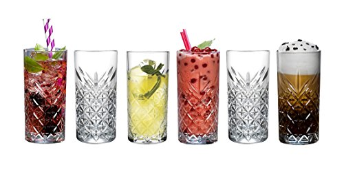 """Pasabahce 52820 Longdrink Glas """"Timeless"""" im Kristall-Design, Höhe ca. 14,3 cm, 6er Set aus Glas"""