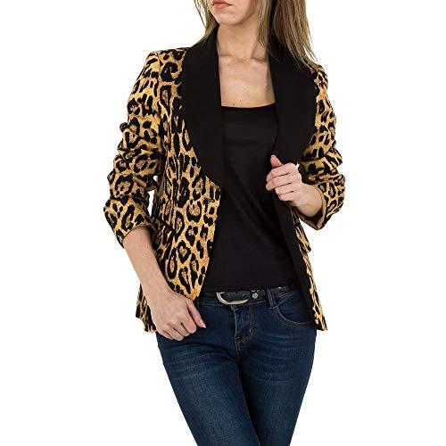 Ital-Design Animal Print Blazer Jacke JCL Gr. L Leo Multi