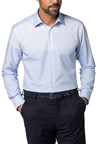 ETERNA long sleeve Shirt MODERN FIT Chambray patterned azzurro chiaro
