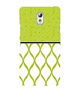 Greenish Self Design 3D Hard Polycarbonate Designer Back Case Cover for Lenovo Vibe P1M
