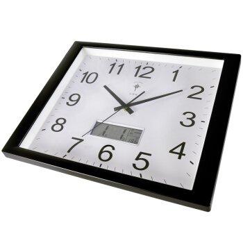 ür Jeden Raum präzise Leisen Wohnzimmer Uhr Kreative Mode Kalender Wecker Quarzuhr Büro Berg 16-Zoll 6805 Wood-Grain Plain, Schwarz Kalender der,6806 ()