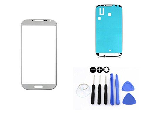 R.P.L. FRONTGLAS SET passend für SAMSUNG Galaxy S5 Weiss White G900 / Frontglas / Glas / Displayglas / LCD Reparatur / LCD Display / Klebefolie / Glass Replacement / 8 - Teiliges Werkzeugset TOOLS (Weiße Galaxy Für Samsung S5 Lcd)
