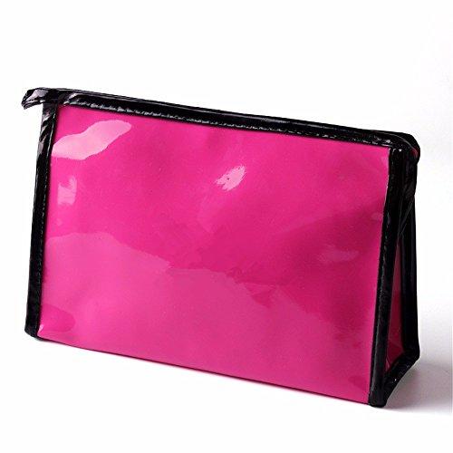 KAFEI Grande capacité de stockage cosmétique miroir brillant forfait voyage,femelle red rose
