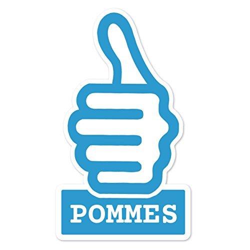 JOllify Aufkleber - Pommes - Farbe: Design: Thumbs up - Daumen hoch