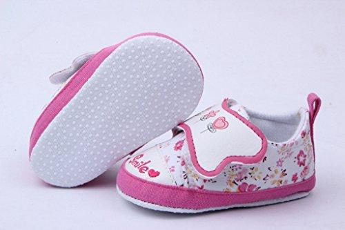 Klettverschluss Blau Bigood Pink Lauflernschuhe Baby Bequem 13 Mädchen Babyschuh pU6qEZUR