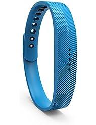 Jomoq - Correa de repuesto para Fitbit Flex 2016, 2 bandas, azul celeste, small