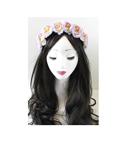 Grande fleur camélia Rose Bandeau festival Lana Del Rey Violet Lilas VTG o67 * * * * * * * * exclusivement vendu par – Beauté * * * * * * * *