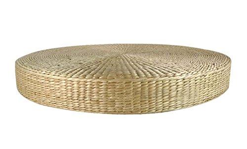 Alfombra hecha a mano de la paja Los cojines redondos gruesos de las esteras de piso, color natural 40 * 40 * 8 cm