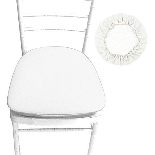 Esszimmer Stuhl Sitzbezug, Stretch Spandex Stuhl Sitzbezug Esszimmer Küche Stuhl Überzug Schutz elastisch abnehmbar waschbar für runde und quadratische Stuhl, 4er Set -